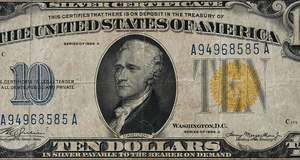 Ten U.S. Yellow and Hawaii Notes
