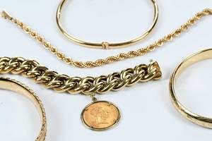 Five 14kt. Bracelets
