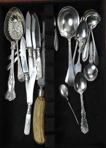 Thirty Pieces Assorted Silver Flatware