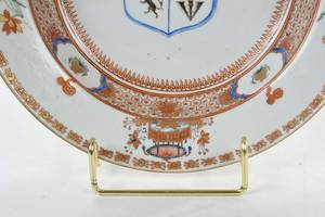 Pair Chinese Export Armorial Soup Bowls