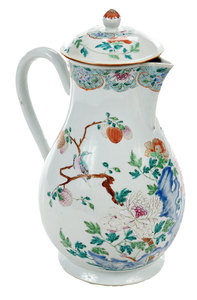 Large Famille Rose Porcelain  Pitcher