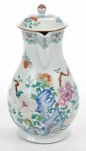 Large Famille Rose Porcelain  Pitcher