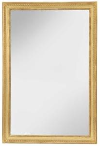 Carved and Gilt Wood Rectangular Mirror