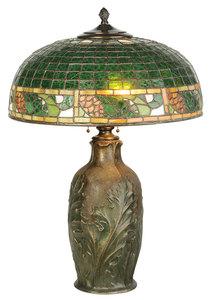 Bigelow Kennard Leaded Glass Table Lamp