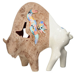 Gene and Rebecca Tobey Buffalo Sculpture