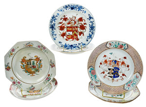 Six Chinese Export Armorial Plates