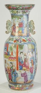 Rose Mandarin Vase With Chilong Handles