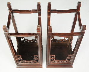 Two Pairs Chinese Hardwood Urn Stands