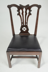 Set of Nine Chippendale Mahogany Dining Chairs