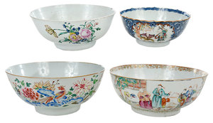 Four Chinese Export Bowls
