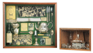 Two Framed Silver Dioramas
