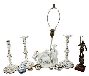 Ten Decorative Table Items