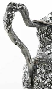 Schultz Repoussé Sterling Pitcher