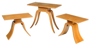 Suite of Three Paul Frank Designed Side Tables