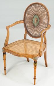 AnEdwardian Adam Style Carlton House Desk, Chair