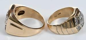 Two 14kt. & Diamond Rings