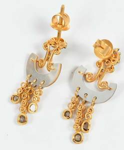 Two Pairs 18kt. Gold Earrings