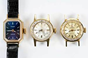 Two Omega Dials and Tissot Watch