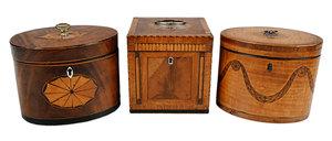 Three Georgian Inlaid Tea Boxes
