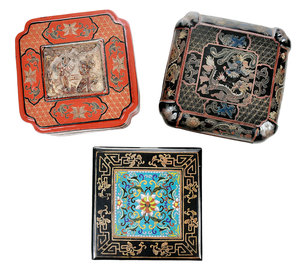 Three Chinese Lacquer Boxes
