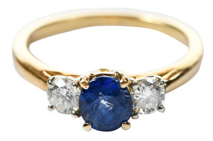 18kt., Sapphire and Diamond Ring