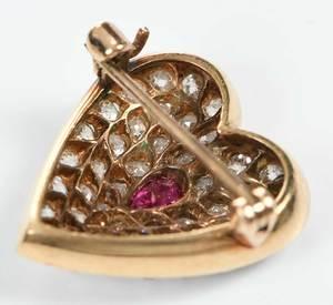 14kt. Diamond Ring and Brooch