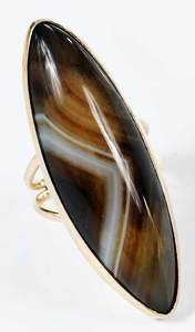 14kt. Agate Ring