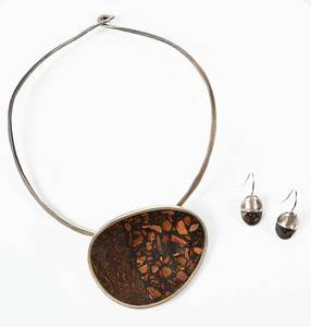 David Urso Silver Necklace & Earrings