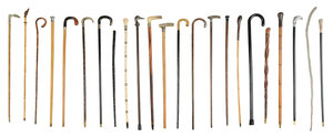 Twenty-Three Canes And Riding Crops