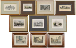 Ten Architectural Prints, NY, DC