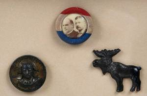 Framed Collection of Teddy Roosevelt Memorabilia