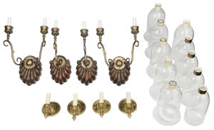 Eight Hurricane Sconces In Two Matching Sets