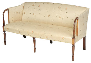 An American Sheraton Style Inlaid Mahogany Sofa