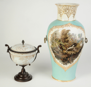 Two Porcelain Bronze Mounted Vases
