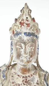 Chinese Wooden Figure of Guanyin