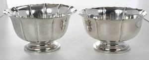 Three Sterling Bowls, Dublin Pattern