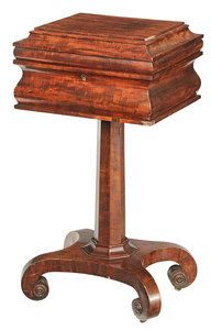 Classical Figured Mahogany Pedestal Table