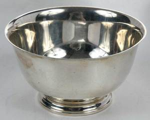 Four Cartier Sterling Bowls