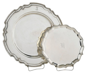 Two Sterling Trays