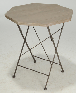 Three Modern Bar Stools, Octagonal Folding Table