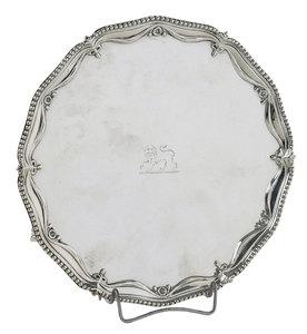 Large George III English Silver Tray