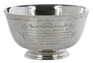 Engraved Sterling Revere Bowl