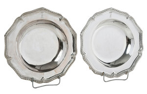 Two George II English Silver Shallow Bowls
