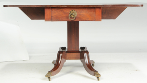 American Classical Drop Leaf Pedestal Table