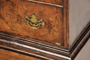 George I Inlaid Burlwood Chest On Frame