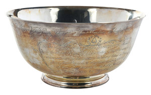 Cased English Silver Revere Style Bowl