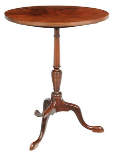 American Federal Figured Mahogany Candle Stand