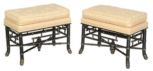 Pair of Smith and Watson Regency Style Stools