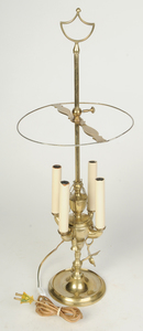 Three Brass Bouillette Lamps