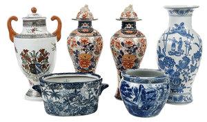 Six Decorative Chinese Porcelain Vases